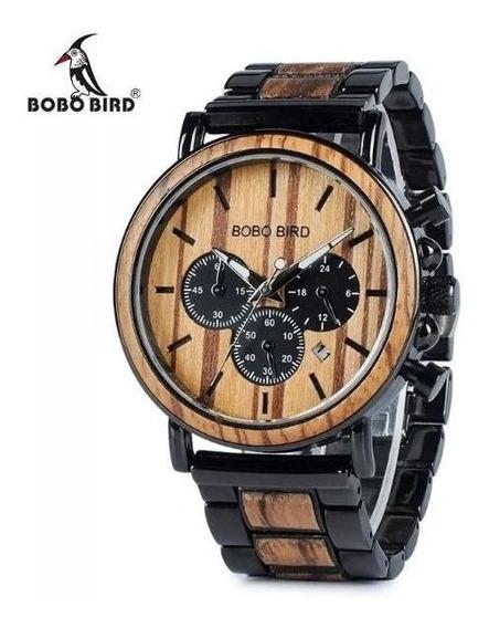 Relógio Bobo Bird Original Caixa Masculino Madeira Presente