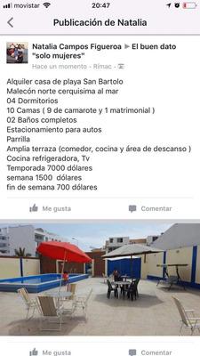 Alquiler Casa De Playa - San Bartolo