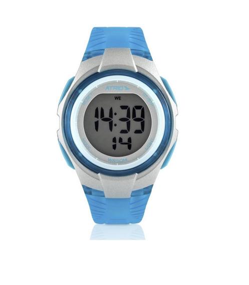 Relógio Digital Esportivo Feminino Atrio Cooper Azul - Es095