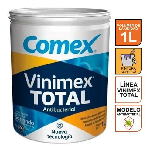 Imagen 1 de 4 de Pintura Blanca Antibacterial Comex Vinimex Total 1lt