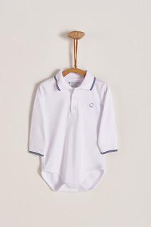 Babycottons Body Polo Con Vivo Azul Bebé