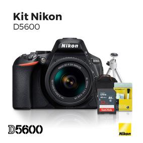 Câmera Nikon D5600 18-55/32gb(c10)/bolsa Tripe E Kit Limpeza