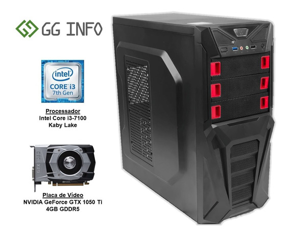 Pc Gamer Intel Core I3 7100 Gtx 1050ti Ddr4 8gb Hd 1tb