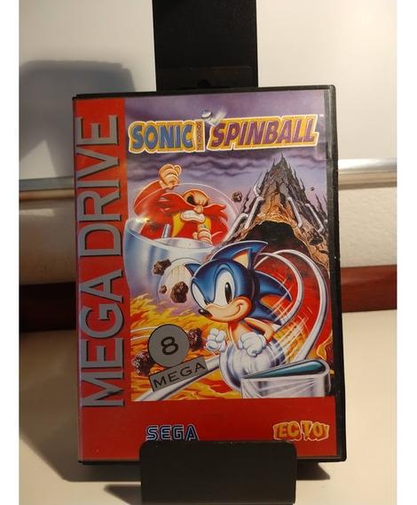 Sonic Spinball Completo Mega Drive Original Tec Toy