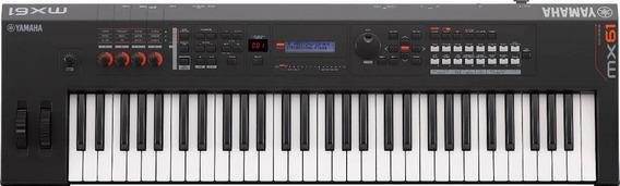 Teclado Sintetizador Yamaha Mx61 Bk | Usb | Midi | Garantia