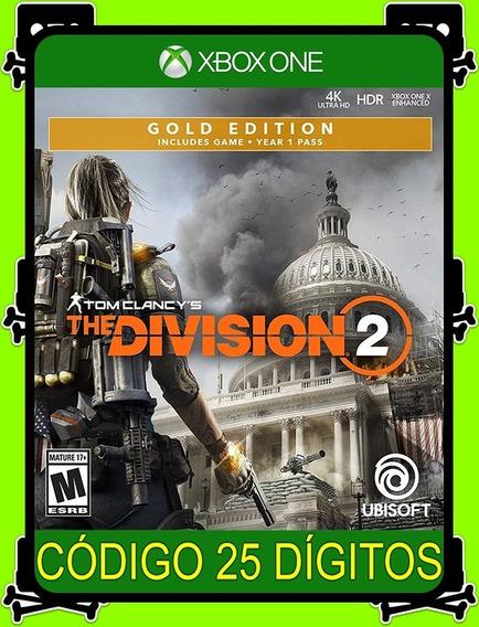Tom Clancys The Division 2 Gold Xbox One - 100% Original (25 Dígitos)