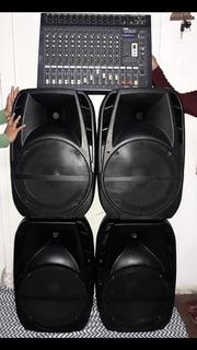 Combo Sonido Profesional Iglesias Bafle 15 Potencia Consola