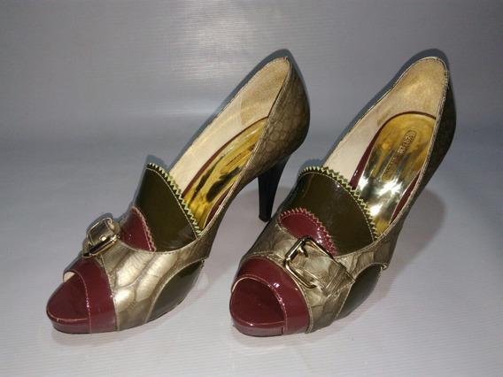 Lindo Sapato Feminino Conservado Scarpin Saltoalto Meia Pata