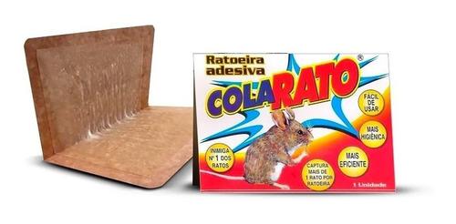 Ratoeira Adesiva Cola Pega Rato Visgo American C/ 5 Peças