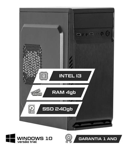 Computador Office Intel Core I3 4gb Ddr3 Ssd 240gb Hdmi Nf