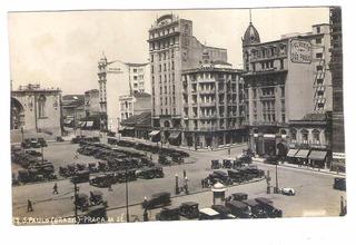 Sp51 Cartão Postal Antigo São Paulo Praça Da Sé, Carros