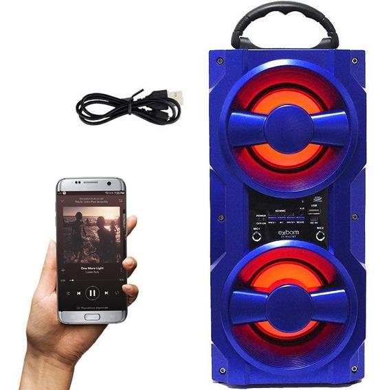 Caixa Som Portátil Bluetooth 10w Amplificada Usb Fm Bateria