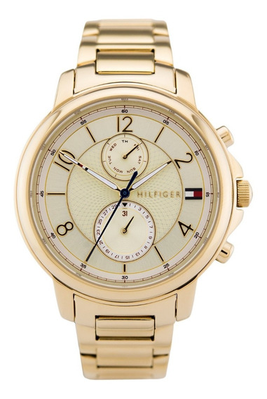 Relógio Tommy Hilfiger Th1781821 Orig Chron Anal Gold White