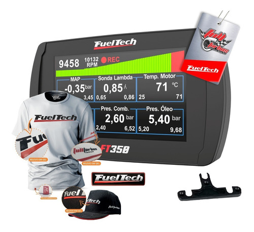 Fueltech Ft350 S/ Chic + Mega Brinde Camiseta Branca Gel+bp