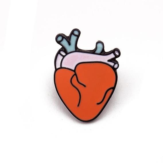 Pin Corazón Anatómico - Medico Amor Doctor Cardiologo
