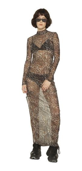 Vestido Carmen Microtul De Noche Largo Mujer Complot
