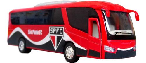 Miniatura Ônibus São Paulo Time De Futebol - Em Metal 18cm