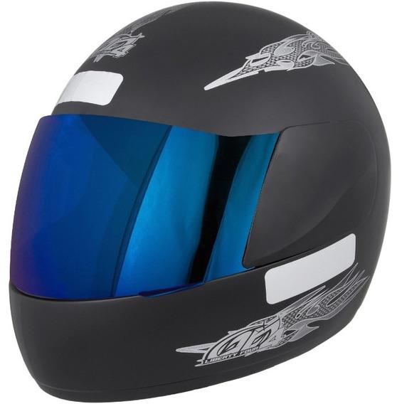 Capacete Moto Liberty Four 4 Viseira Iridium Pro Tork