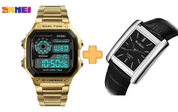 2 Relógios Importados Masculino E Feminino - Promoção