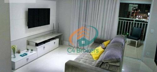 Apartamento Com 3 Dormitórios À Venda, 110 M² Por R$ 800.000,00 - Vila Augusta - Guarulhos/sp - Ap3440