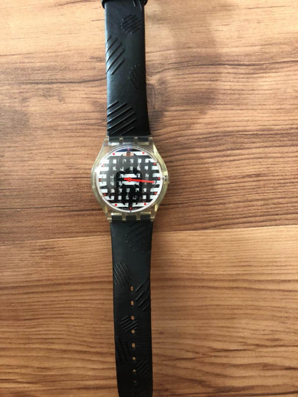 Swatch Relógio Novo Pulseira De Courinho