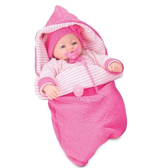 Boneca Dorme Bebê Recém Nascido Chora E Ri - Roma Brinquedos