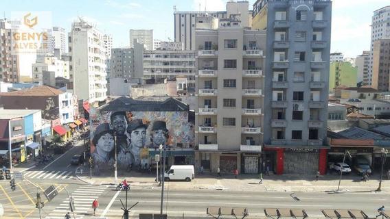Kitnet Com 1 Dormitório Para Alugar, 35 M² Por R$ 600 Por Mês + Condomínio De R$ 453,78 E Iptu De R$ 46,22 - Santa Efigênia - São Paulo/sp - Kn0011