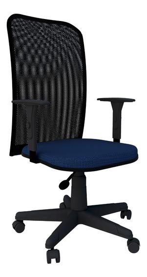Cadeira Em Tela Braço Regulável Escritório Home Office