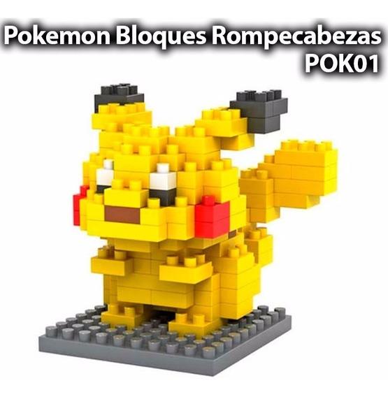 Pikachu Pokemon Lego Mini Blocks Rompecabezas Armable