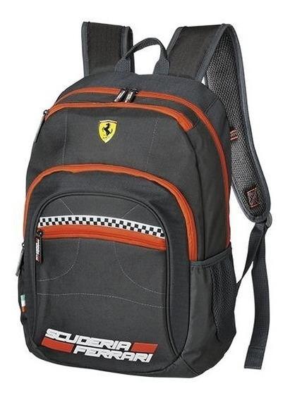 Mochila Grande Foroni Ferrari Cavallino Preta - 42.5608-4