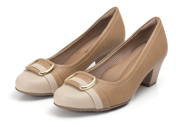 Scarpin Piccadilly Com Enfeite Frontal - Ref 111078