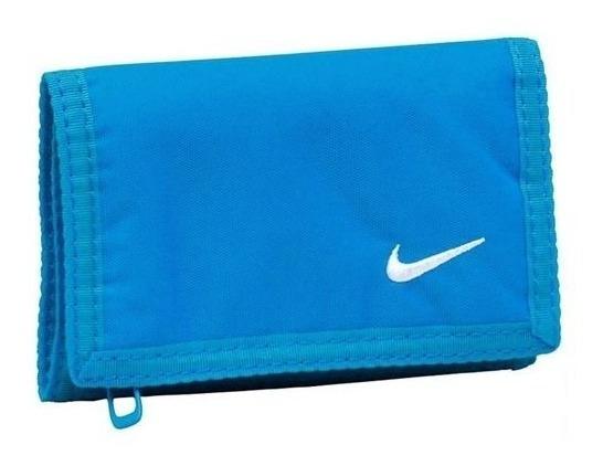 Carteira Nike Basic Nylon Wallet ( Azul Claro )