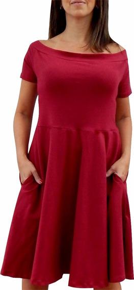 Talles Grandes- Vestido Falda Plato Con Bolsillo Hasta 6xl