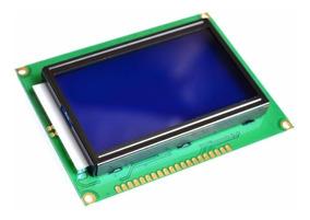 Display Lcd 128x64 Gráfico Backlight Azul St7920 Arduino Pic
