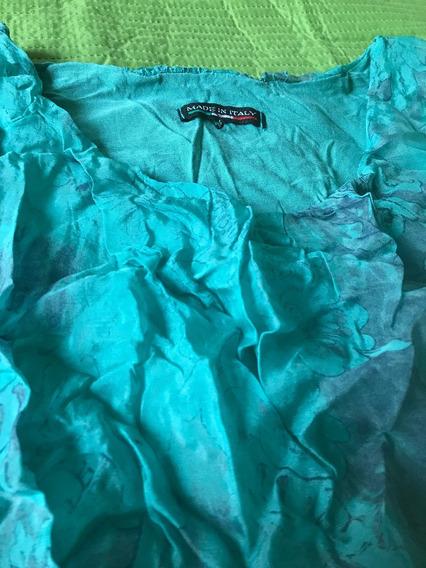 Vestido Aqua Importado Nuevo