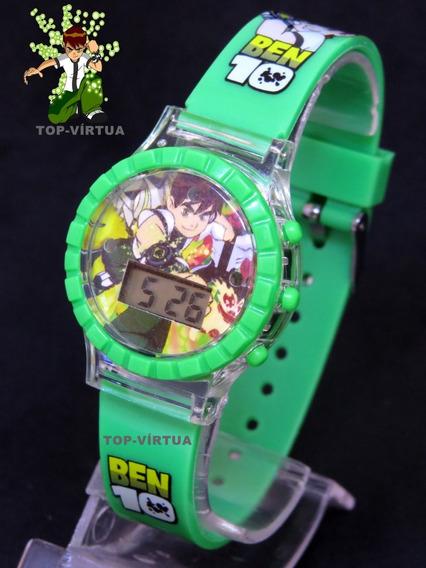 Relógio Ben10 3d Digital Verde Com Som Luzes Infantil Original C331