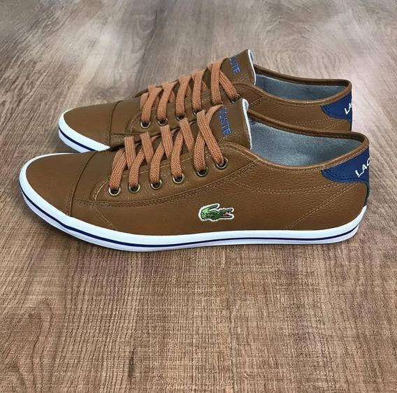Sapato Sapatenis Masculino Lacoste Cano Baixo Couro