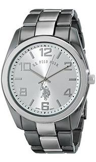 Us Polo Assn. Reloj Clásico De Pulsera De Dos Tonos Usc802