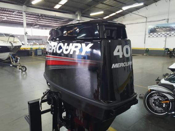 Motor Popa Mercury 40 Hp Eo 3 Cilindros Ano 2016