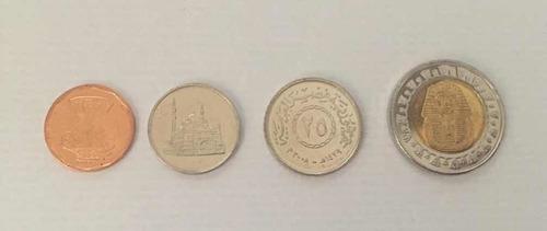 Imagen 1 de 2 de Coleccion De 4 Monedas De Egipto