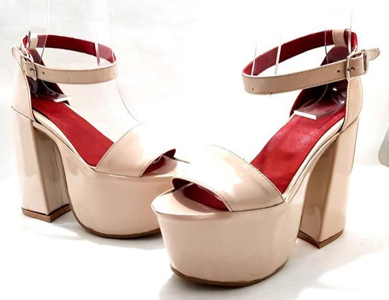 Sam123 Zapatos Sandalias Sand Nude Mujer Talles Chicos