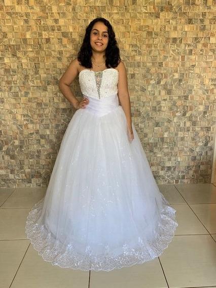 Vestido Debutante Tomara Que Caia Com Brilhos Luxo 15 Anos