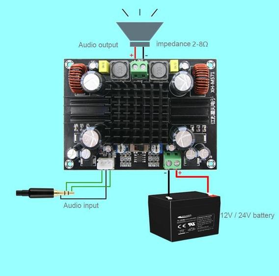 Placa Amplificador Som Subwoofer Audio Mono 150w 12/24v