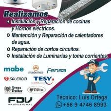 Reparación Y Mantención Cocinas, Hornos Y Termos Eléctricos