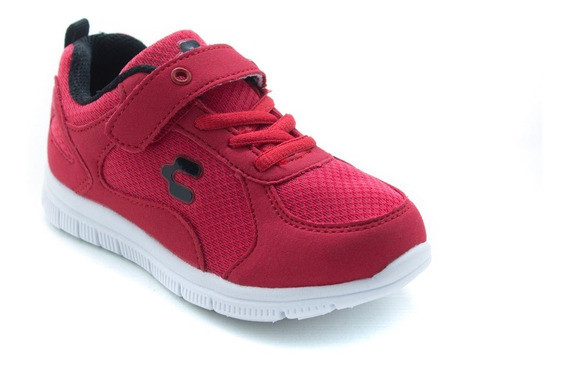 Tenis Niño Deportivos Light Charly 1062098 Rojo Originales