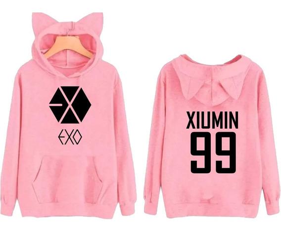 Moletom Orelhinha Kpop Exo Xiumin 99 Musica Popular Blusa