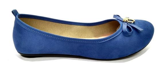 Sapatilha Feminina Moleca Camurça Jeans 5314