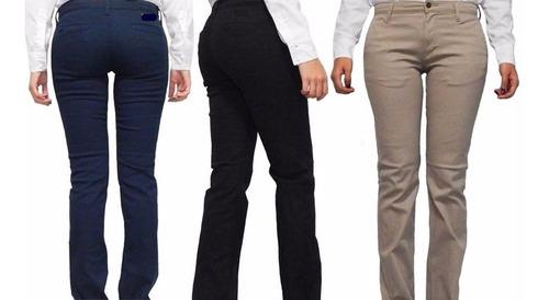 Pantalon Escolar Uniforme Oficina Gabardina Stretch Mujer Mercado Libre