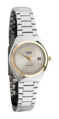 Reloj Casio Metal Dama Plateado Ltp-1170g-7a Relojesymas