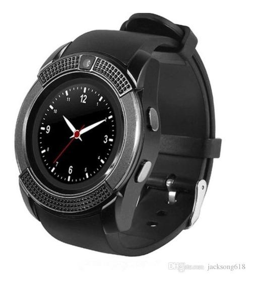 Smart Watch V8 Reloj Celular Redondo 360 Sim Camara Sd Bt